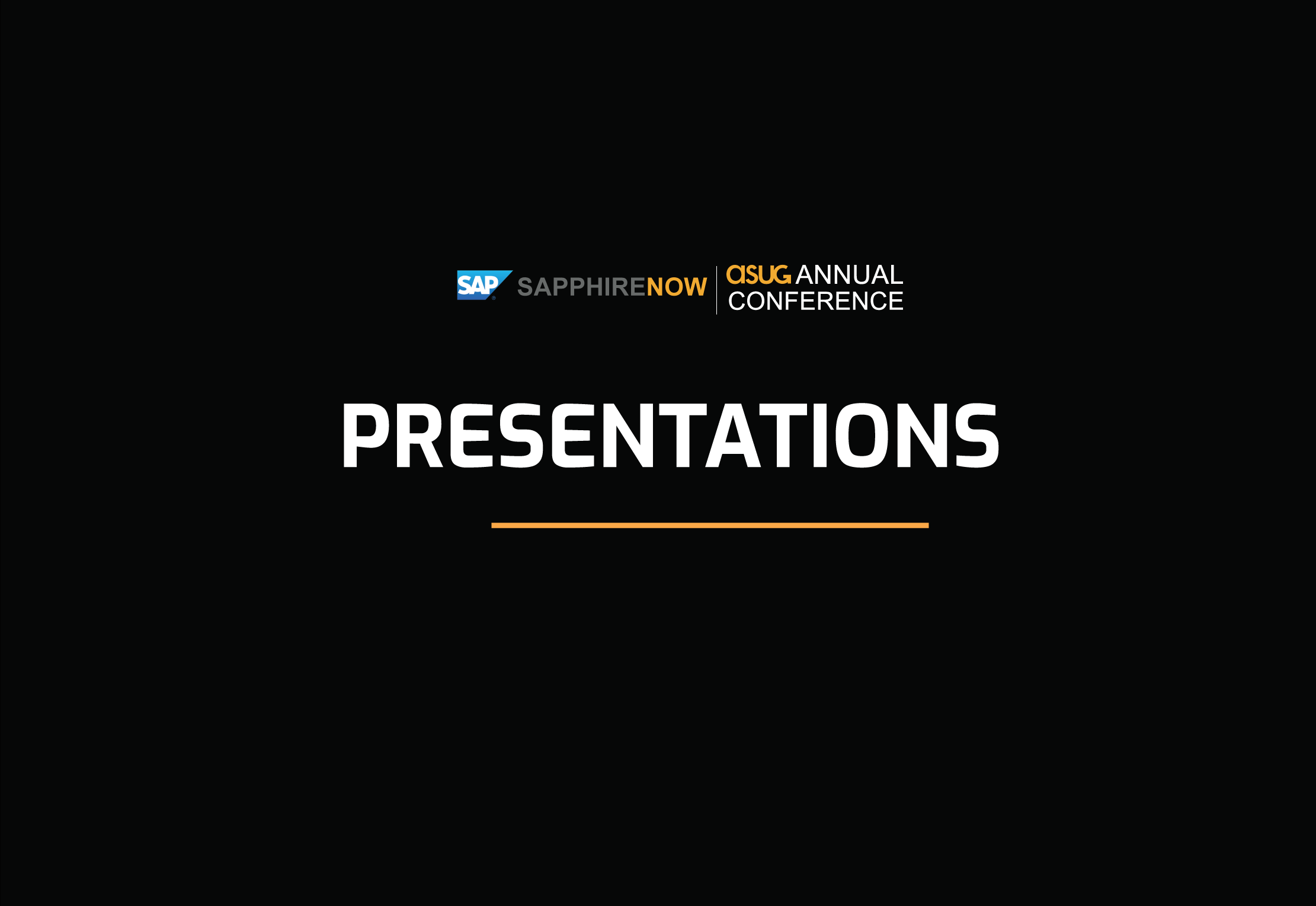 2019 SAPPHIRE Presentations | May 7-9